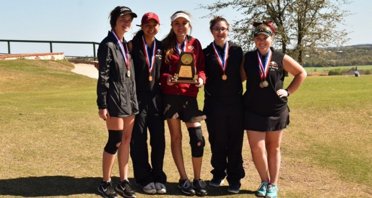 Photo for Lady Rough Rider Golf Team Takes 3rd in District!