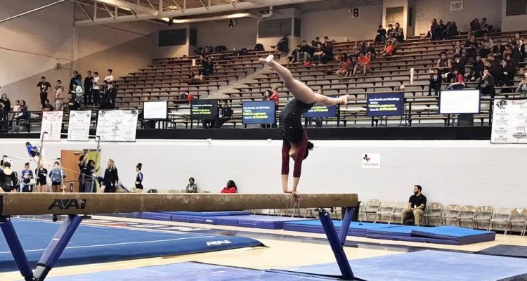 Photo for Marybel Pina Competes At Texas State Gymnastics Championships